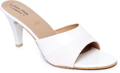 London Steps Women White Heels