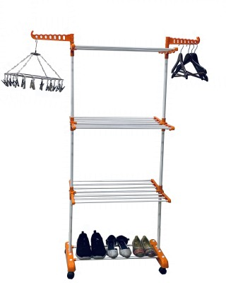 FAVOUR Steel Floor Cloth Dryer Stand O1MS-02(3 Tier)