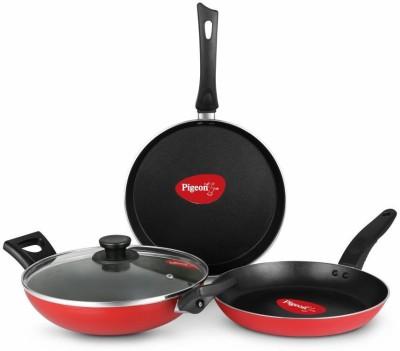 Pigeon Essentials Cookware Set  (Aluminium, 4 - Piece)