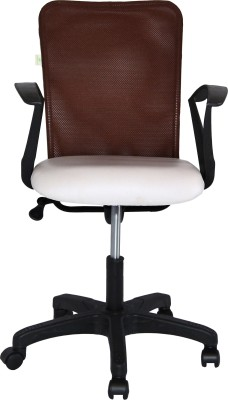 TIMBER CHEESE Leatherette Office Executive Chair(Brown)