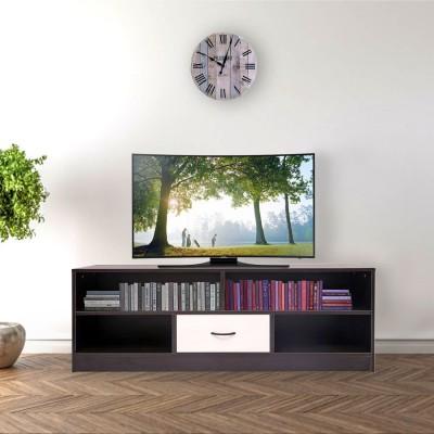 Home Full Engineered Wood TV Entertainment Unit(Finish Color - BLACK1)