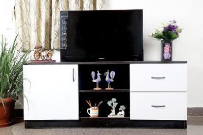 Home Full Engineered Wood TV Entertainment Unit(Finish Color - BLACK2)
