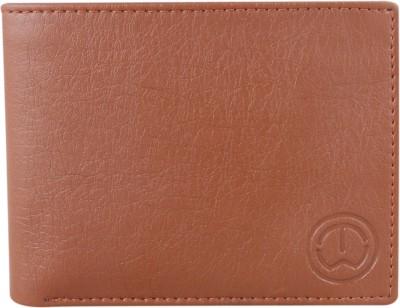 TnW Men Tan Artificial Leather Wallet 11 Card Slots