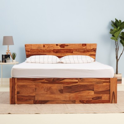 Wakefit Auriga Solid Wood King Box Bed(Finish Color -  Natural)