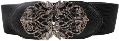 Futurekart Girls Party Black Artificial Leather Belt