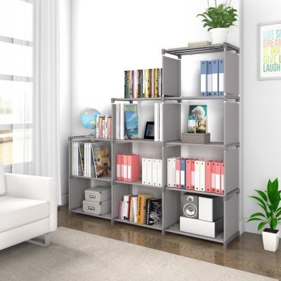 Flipkart Perfect Homes Studio Metal Open Book Shelf(Finish Color - Grey)