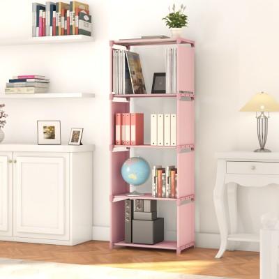 Flipkart Perfect Homes Studio Metal Open Book Shelf(Finish Color - Pink)
