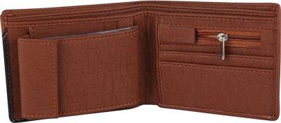 yoze Men Tan Artificial Leather Wallet(9 Card Slots)