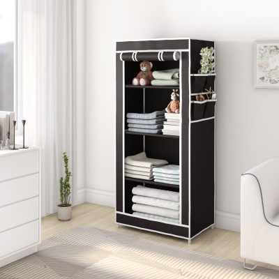Flipkart Perfect Homes Studio Single Door 4 Shelf PP Collapsible Wardrobe(Finish Color...