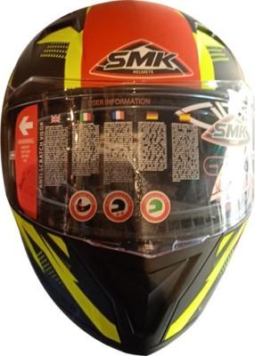 SMK RHELMETSAFETY-659 Motorbike Helmet(Multicolor)