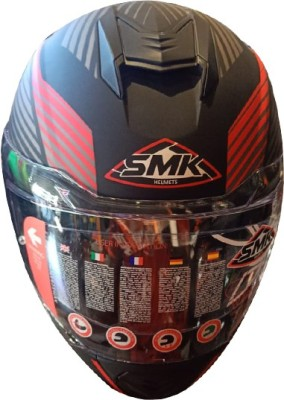 SMK RHELMETSAFETY-666 Motorbike Helmet(Multicolor)