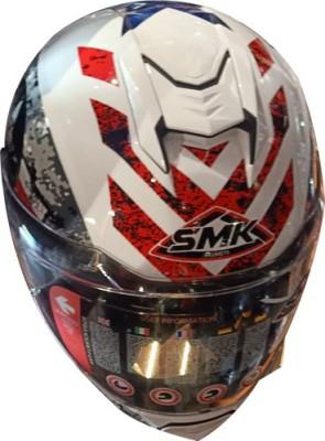SMK HELMETSAFETY-6493 Motorbike Helmet(Multicolor)