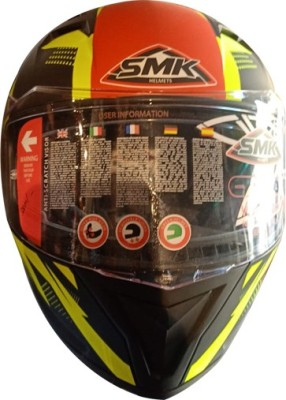 SMK HELMETSAFETY-6492 Motorbike Helmet(Multicolor)
