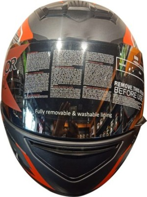 SMK RHELMETSAFETY-665 Motorbike Helmet(Multicolor)