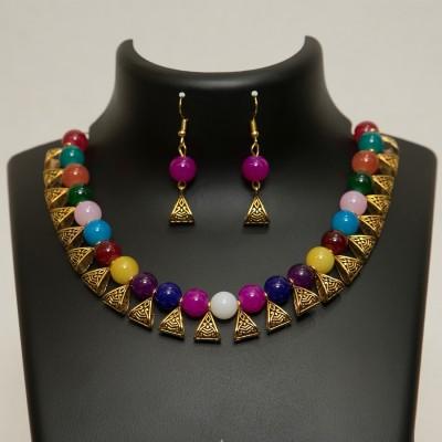 Sonal Art Glass Jewel Set Multicolor Sonal Art Jewellery Sets