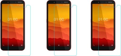 ACM Tempered Glass Guard for Nokia C1(Pack of 3)