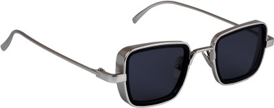 TheWhoop Rectangular Sunglasses(Black)