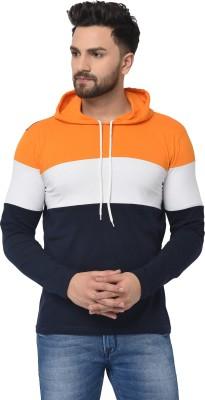 MURATTI Color Block Men Hooded Neck Orange T-Shirt