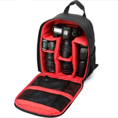 Ketsaal Shoulder Backpack to Carry DSLR SLR Lens Camera Bag Camera Bag(Red, Black)
