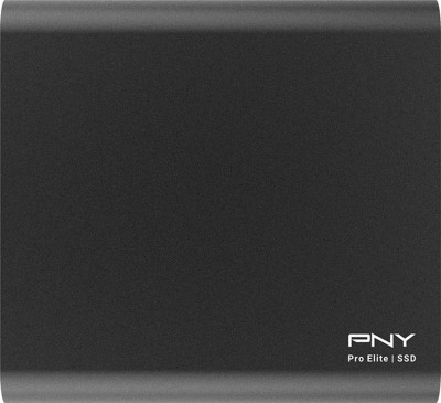 PNY Portable SSD Pro Elite USB 3.1 Type-C 1 TB External Solid State Drive with  1 TB  Cloud Storage(Black)