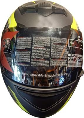 SMK HELMET-00685 Motorbike Helmet(Multicolor)