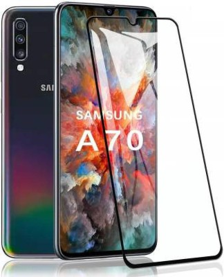 Ravbelli Edge To Edge Tempered Glass for Samsung A70(Pack of 1)