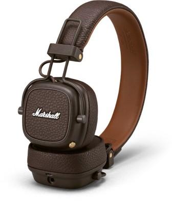 Marshall Major 3 BT Bluetooth Headset(Brown, Wireless over the head)