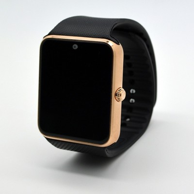 """Influx ® 1.56"""" Bluetooth Camera Dialing SMS Mobile Phone Gold Smartwatch(Black Strap Regular) 1"""