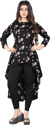 Glance Designs Casual 3/4 Sleeve Floral Print Women Multicolor Top