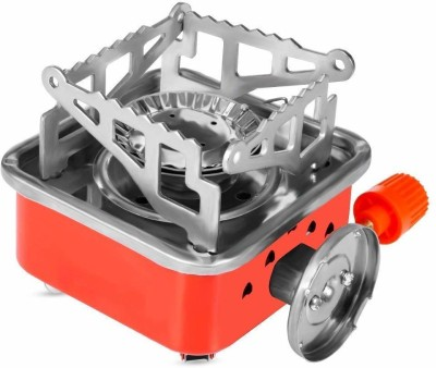Vidisa Generic Outdoor Portable Square-Shaped Gas Butane Stainless Steel Manual Gas Stove(1 Burners)