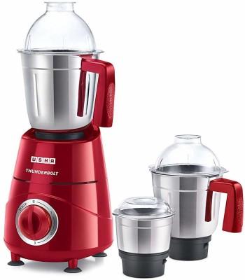 Usha Thunderbolt 06 800 Mixer Grinder(Red, 3 Jars)