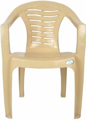 Restomatt Plastic Outdoor Chair(Beige)