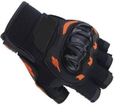 zaysoo Half Riding Gloves Riding Gloves Gym & Fitness Gloves(Black, Orange)