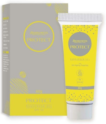 Berkowits Protect- Sunscreen Gel With Anti- Ageing Properties - SPF 50 PA+++(60 g)