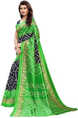 Kyrila Solid Fashion Art Silk Saree Green