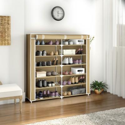 Flipkart Perfect Homes Studio 2 Door Metal Collapsible Shoe Stand(Beige, 12 Shelves)