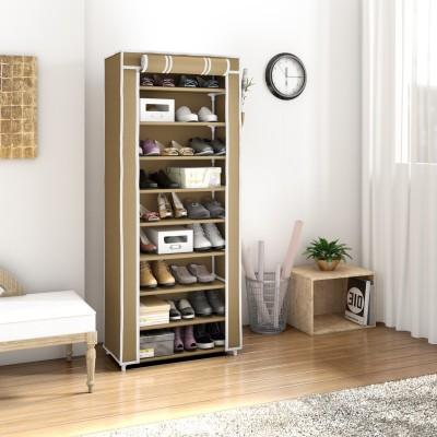 Flipkart Perfect Homes Studio Single Door Metal Collapsible Shoe Stand(Beige, 9 Shelves)