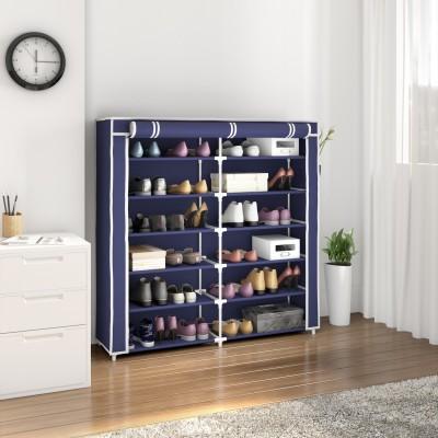 Flipkart Perfect Homes Studio 2 Door Metal Collapsible Shoe Stand(Blue, 12 Shelves)