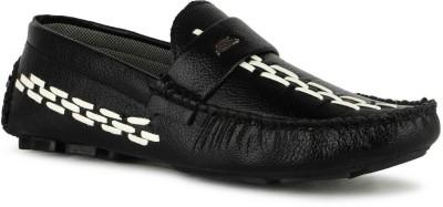footik LFB003 Loafers For Men(Black)