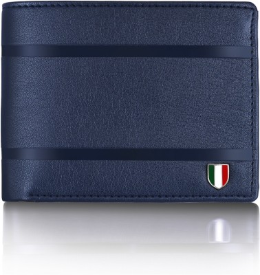 GIOVANNY Men Blue Genuine Leather Wallet(3 Card Slots)