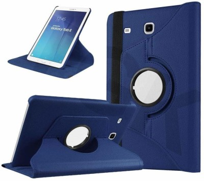 TGK Book Cover for Samsung Galaxy Tab E 9.6 inch SM-T560, T561, T565, T567V 360 Degree Rotating Leather Case(Blue, Cases with Holder)