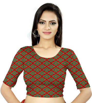 Aditya Cottons Cotton Silk Blend Self Design Blouse Material Unstitched