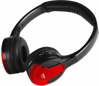 Boss Headphone Bluetooth Headset(Black, Red, Over the Ear)