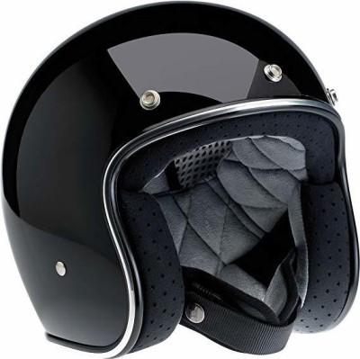 Biltwell Bonanza Half Helmet (Gloss Black, X-Large) [CAT_84778] Motorbike Helmet(Black)