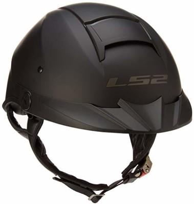 LS2 Helmets Rebellion Unisex-Adult Half Helmet Motorcycle Helmet (Matte Black, XX-Lar Motorbike Helmet(Black)