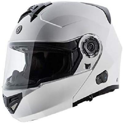 TORC T27 Full Face Modular Helmet with Blinc Bluetooth (White, Medium) [CAT_6369] Motorbike Helmet(White)