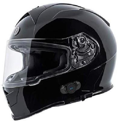 Torc T14B Bluetooth Integrated Mako Full Face Helmet (Gloss Black, Large) [CAT_6369] Motorbike Helmet(Black)