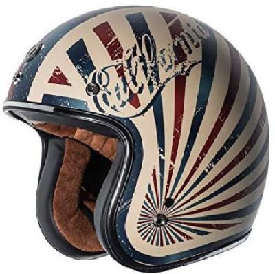 Torc T50 Route 66 Dreamer Open Face Helmet (Flat White, Small) -- multicolour [CAT_6 Motorbike Helmet(White)