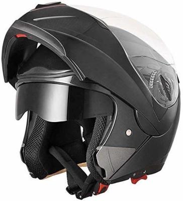 Yescom XL , Black : Full Face Flip up Modular Motorcycle Helmet DOT Approved Dual Visor Motorbike Helmet(Black)