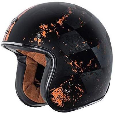 Torc T50 Route 66 Finale Open Face Helmet (Flat Black, X-Small) [CAT_6484] Motorbike Helmet(Black)